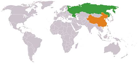 China Russia Map