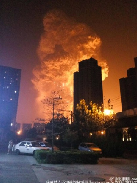 china explosion