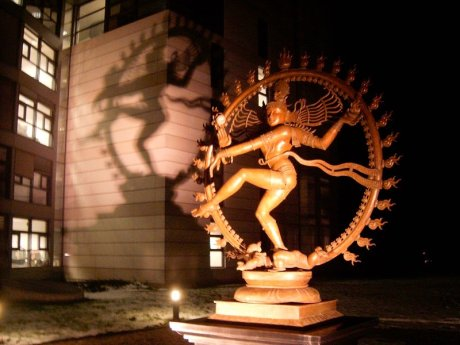 "Lord Shiva - ""God of Destruction"" statue at CERN LHC. Apollyon/Abaddon also means Destruction/Destroyer! Is the CERN-LHC an attempt to open the bottomless pit ie blackhole/wormhole at the centre of our galaxy to release Apollyon/Abaddon of Revelation 9:11? Revelation 9:11 New King James Version (NKJV) 11 And they had as king over them the angel of the bottomless pit, whose name in Hebrew is Abaddon, but in Greek he has the name Apollyon."